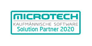 Logo Microtech Kaufmännische Software Solutionpartner 2020